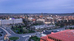 Sibiu from above h264-420 1080p VHQ Stock Footage
