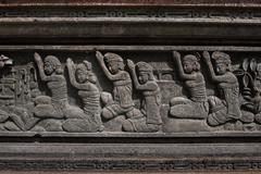 Hindu worshiping - stock photo