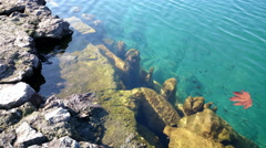 Rocks under water Peaceful Tranquil 4k Background - stock footage