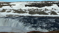 Time lapse from selfoss waterfall in Iceland Stock Footage