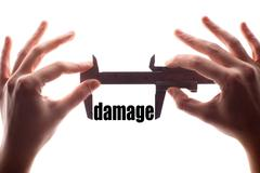 Small damage - stock illustration