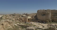 Herodion palace excavations 4K Stock Footage