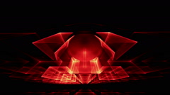 Red Cubes Rotating in Perspective - stock footage