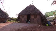 A clay house in a village in India Stock Footage