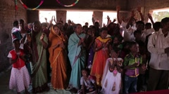 Indian people worshiping God at church - stock footage