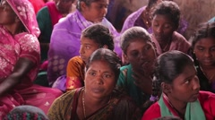 Indian women and girls paying attention to the speaker Stock Footage