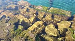 Rocks under water Stock Footage