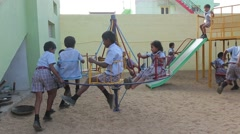 Indian children playing in the playground - stock footage