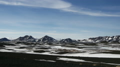 Time lapse snowy landscape with Askja volcano in Iceland Stock Footage