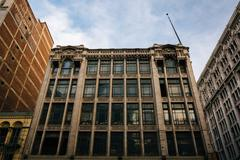 Stock Photo of Old building on Broadway in the Jewelry District, in downtown Los Angeles, Ca
