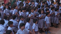 Indian kids singing and spinning - stock footage
