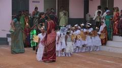 Indian  kids dressed like angels - stock footage