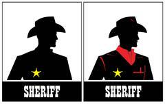 Sheriff. Cowboy - stock illustration