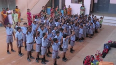 Group of Indian kids singing - stock footage