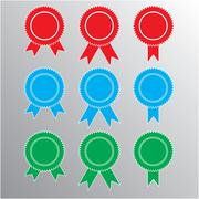 Pictograph of award, different color. vector. - stock illustration