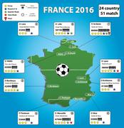 France soccer stadium map and infographics - stock illustration
