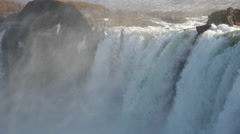 Extreme Close up from the Godafoss waterfall in Iceland Stock Footage