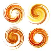 Colorful abstract icon set. Dynamic flow illustration Stock Illustration