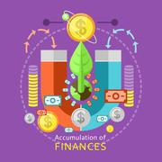 Accumulation of Finances Concept - stock illustration