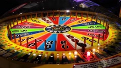 Wheel of fortune game Stock Footage