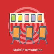 Mobile Revolution Concept - stock illustration