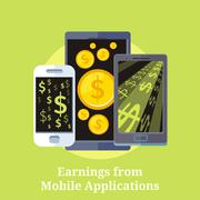 Earning from Mobile Applications Stock Illustration