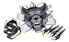 Wolf claws break out Stock Illustration