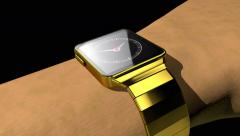 Smart phone morphs into smart watch, 3D animation - stock footage