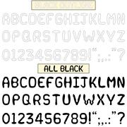 Stock Illustration of Quirky Fun Black Font