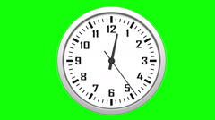 Animated clock counting down 12 hours over 30 seconds. Seamlessly loops Stock Footage