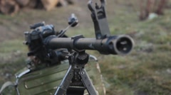 Machinegun Closeup Stock Footage