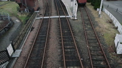 A heritage railway in Scotland Stock Footage