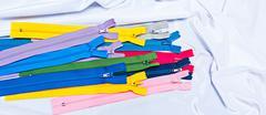 Multi-colored zipper - stock photo
