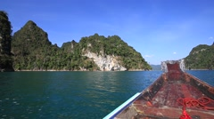 Video 1920x1080  Boat trip to lake. Khao Sok National Park, Thailand Stock Footage