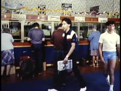 TAB HORSE RACE BETTING / GAMBLING (1982) Stock Footage