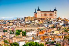 Alcazar of Toledo Spain Stock Photos