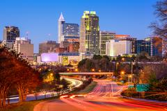 Raleigh, North Carolina, USA downtown city skyline. Kuvituskuvat