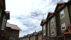 Suburb Housing Complex Time Lapse Stock Footage