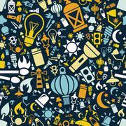 Light seamless pattern Stock Illustration