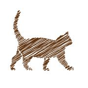 Stock Illustration of cat handwriting picture