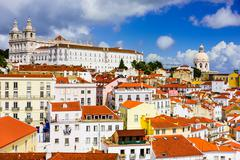 Alfama District of Lisbon Stock Photos