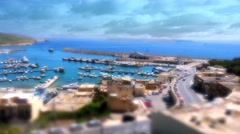 MGARR, MALTA - APRIL 14, 2015: Panorama view on Mgarr port with ferry on Gozo Stock Footage