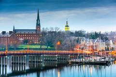 Annapolis Maryland on the Chesapeake Bay Stock Photos