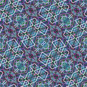 Colorful Tribal Geometric Seamless Pattern - stock illustration