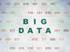 Stock Illustration of Data concept: Big Data on Digital Paper background