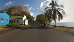 Caribbean Island Road Trip 03 Stock Footage