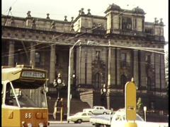 Parliament, Trams, Melbourne (1982) Stock Footage
