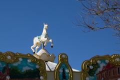 Vintage fairground merry-go-round ride Stock Photos