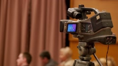 Broadcast Hd Video Camera - stock footage
