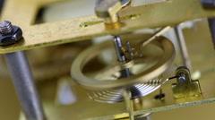 Clock mainspring oscillating Stock Footage